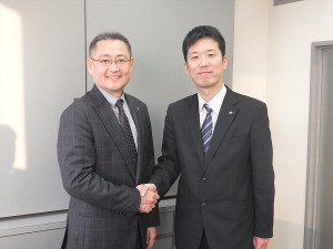 田中会長と川隅社長