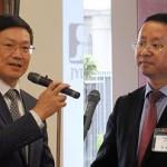 左:胡志平 中国大使館公使参事官 右:孔子学院総部/ 国家漢弁漢考国際・李佩澤 総経理