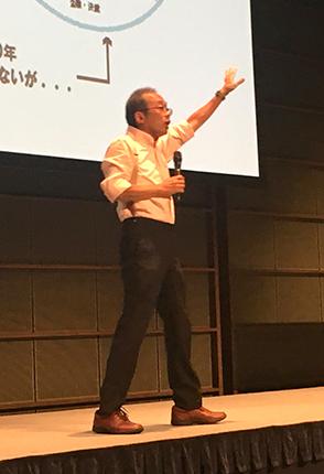 ユーモアたっぷりに語る藤原和博氏
