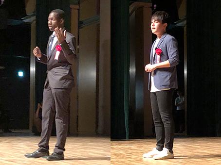 [左]イキイ・ウォルターさん [右]桒原元芳さん