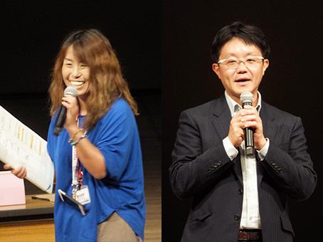 [左]事務局長を務めたキッズイングリッシュの金谷尚美 代表[右]SRJ・堀川直人 社長
