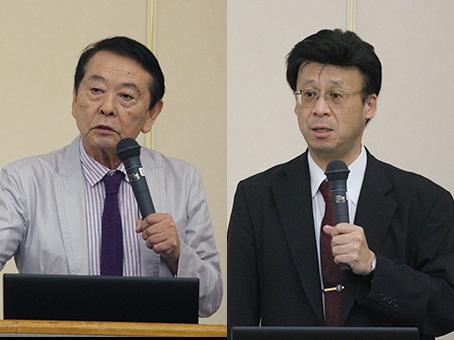 [左]小畑力人 常任理事(教育担当) [右]学校改革の旗手となる平井正朗 校長