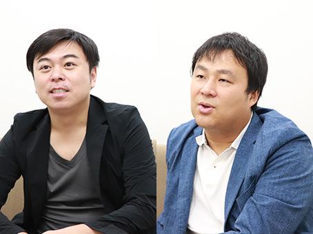 [左]ミスターフュージョン・石嶋洋平 社長 [右]ケーイーシー・小椋義則社長
