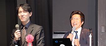 [左から] 基調講演を行った溝上慎一 氏、日青協 主席研究員・(株)対話教育研究所代表の小山英樹 氏