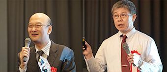 [左から] 特別講演を行った石川一郎 氏、同じく特別講演を行った千々布敏弥 氏