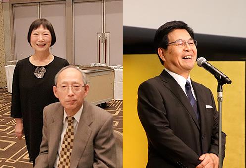 [左]創業者の守屋貴嘉 氏と奥様の幸子 氏 [右]トーゼミグループ・大森登希義 代表
