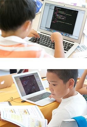 プログラミングをする子ども