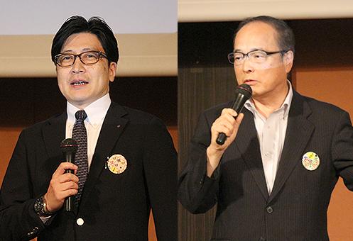 [左] エジュテックジャパン・瀧川敬司 社長 [右] 市進・小笠原宏司 社長
