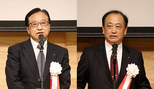 [左] 全国学習塾教会・稲葉秀雄 副会長 [右] 全国学習塾協会・山下典男 副会長