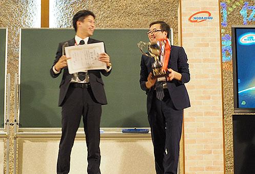 団体賞で優勝した野田塾は、 5大会連覇という快挙を成し遂げた