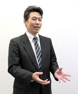 営業部課長の談議正知 氏