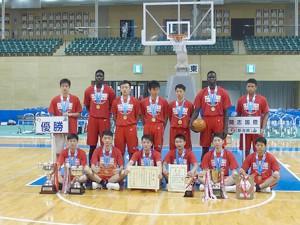 インターハイで優勝した男子バスケットボール部