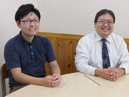 副塾長の小野田光伸 氏(右)と蓮根教室長の小泉正太 氏