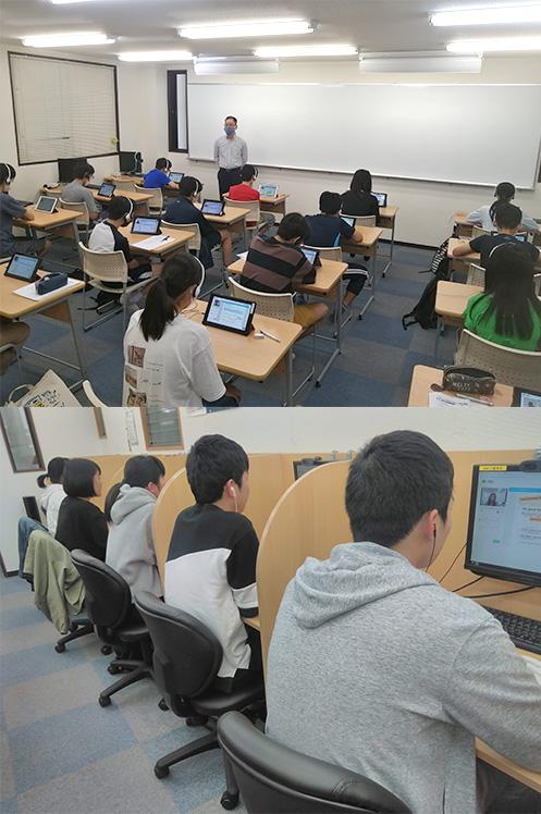 OLECOで学習する生徒たち