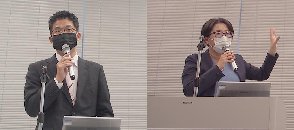 [左] SRJ 取締役 佐伯康雄氏 [右] SRJ 執行役員 秋山和沙氏