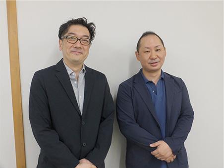 スタディラボ 地福武史代表(左)と石田栄治専務