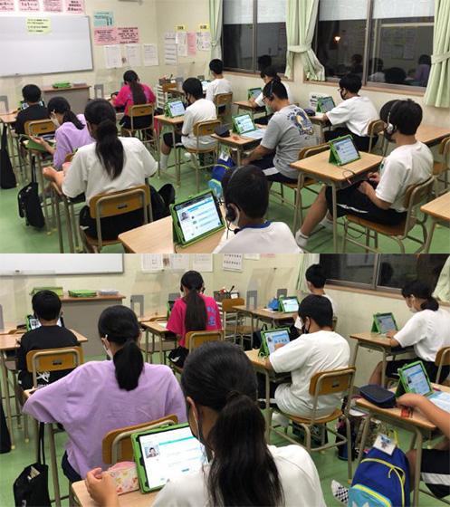 「KYO-KAI OnE」で学習する生徒たち
